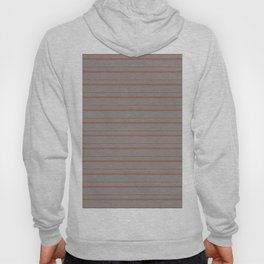 Cavern Clay Warm Terra Cotta SW 7701 Horizontal Line Patterns 3 on Slate Violet Gray Hoody