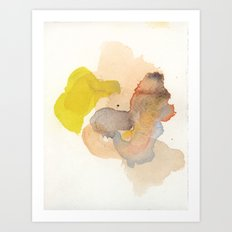 Watercolor Eleven Art Print