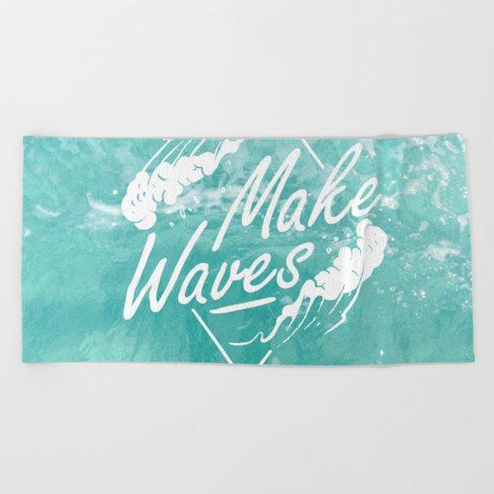 Make waves Beach Towel