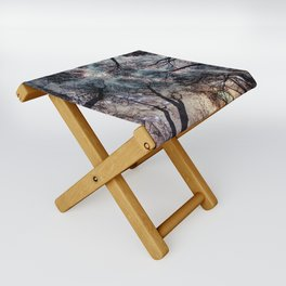 Starry Sky in the Forest Folding Stool