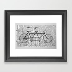 Me & You Tandem Bike Framed Art Print