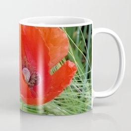 The Red Poppy in the Field Coffee Mug