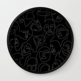 Face Lace Wall Clock
