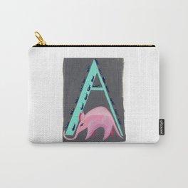 A is for Aardvark Letter Alphabet Decor Design Art Pattern Carry-All Pouch