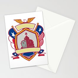 Texas Warship Lone Star Flag Crest Icon Stationery Cards