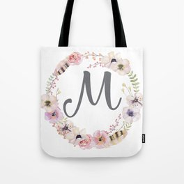 Floral Wreath - M Tote Bag