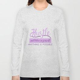 Hustle in Purple Long Sleeve T-shirt