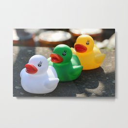 Three gummy ducks Metal Print