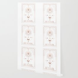 Le Soleil or The Sun Tarot White Edition Wallpaper
