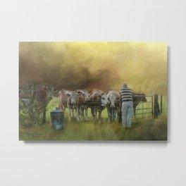 The Cow Whisperer Metal Print