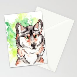 Mexican Gray Wolf Bust Stationery Cards