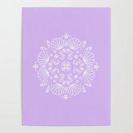 Lilac Mermaid Poster