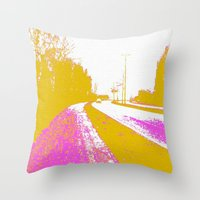 road Throw Pillows featuring Road by Mr and Mrs Quirynen