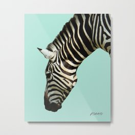 Zebra by Kokatu MINT Metal Print