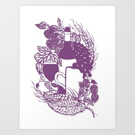 Hoops and grapes  Art Print