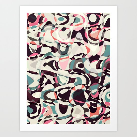 Retro Light Tumble Art Print