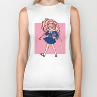 magical girl Biker Tanks featuring Salty Magical Girl by eriphyle