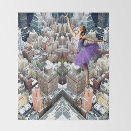 skyscrapers ballerina Throw Blanket