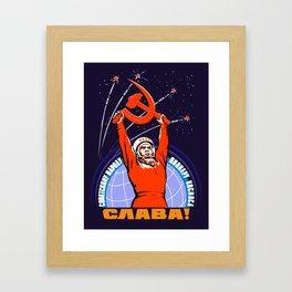 Soviet Propaganda. Yuri Gagarin Framed Art Print