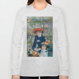 """Pierre Auguste Renoir """"Two Sisters"""" Long Sleeve T-shirt"""