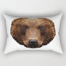 brown bear face, bear, animal Rectangular Pillow