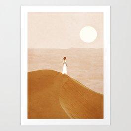 Endless Dunes Art Print