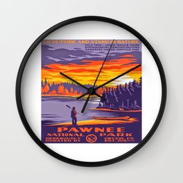 Pawnee National Park Wall Clock