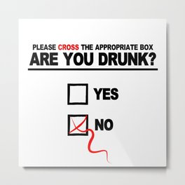 Are you drunk Metal Print