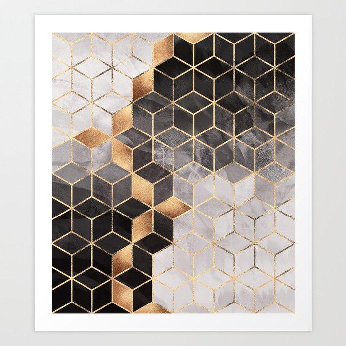 Smoky Cubes Art Print