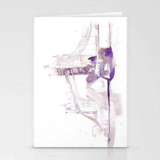 Watercolor landscape illustration_London Bridge Stationery Cards