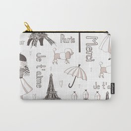Paris Girl Carry-All Pouch