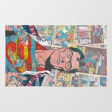 Vintage Comic Superman Rug