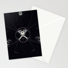 Flower in Space Stationery Cards