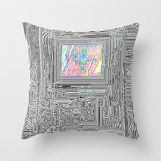 Peaking Through Throw Pillow