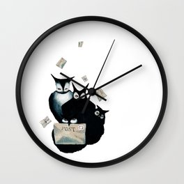 The Owl Postal Service Wall Clock