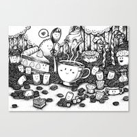 coffe Canvas Prints featuring Smile coffe by Kisava NiCh