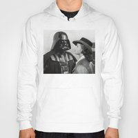 casablanca Hoodies featuring Darth Vader in Casablanca by Luigi Tarini