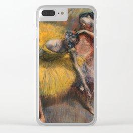 Edgar Degas - Deux Danseuses Jaunes Et Roses Clear iPhone Case