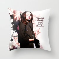 code Throw Pillows featuring Code by Amy Mancini