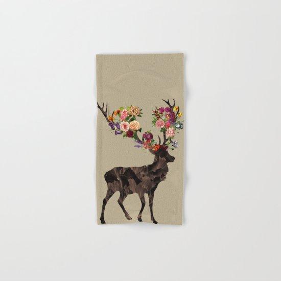 Spring Itself Deer Flower Floral Tshirt Floral Print Gift Hand & Bath Towel
