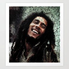 Homage to Marley Art Print