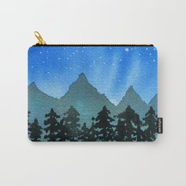 Starry Night Over Blue Mountains & Black Trees Carry-All Pouch