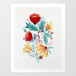 Botanic Flowers Art Print