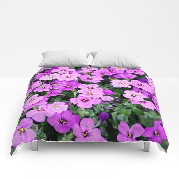 Blue pillow garden plant purple Comforters
