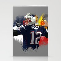 patriots Stationery Cards featuring Tom Brady by J Maldonado
