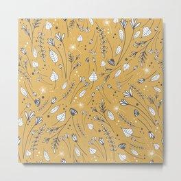 Heidi_Wildflowers Gold Metal Print