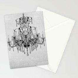 belle époque chandelier Stationery Cards