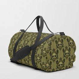 Halloween Damask Olive Duffle Bag