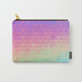 Holographic geometric vector background. 80s and 90s fashion design Carry-All Pouch