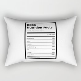 Boss Nutrition Facts Rectangular Pillow